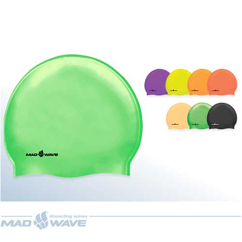 Шапочка Mad Wave Neon Silicone Solid